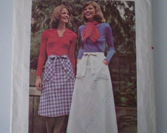 Butterick 5726 Wrap Skirt Vintage Pattern Size Medium