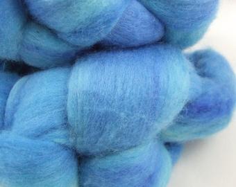 SKY BLUE - 4 oz Hand-Painted Merino Top