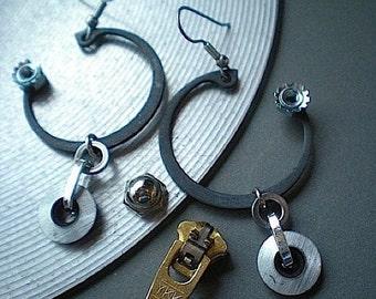 In orbit - hardware earrings
