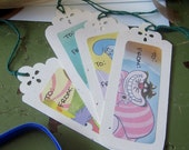Wonderland Storybook Gift Tags (set of 4)