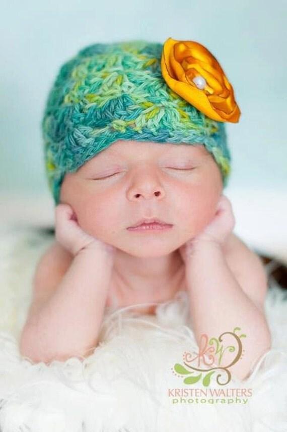 Flapper Style Alpaca Beanie, Newborn Baby Hat
