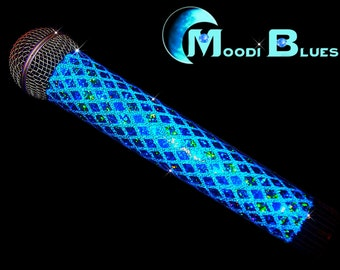 SPARKLE MICROPHONE COVER (Moodi Blues) for Cordless Microphones