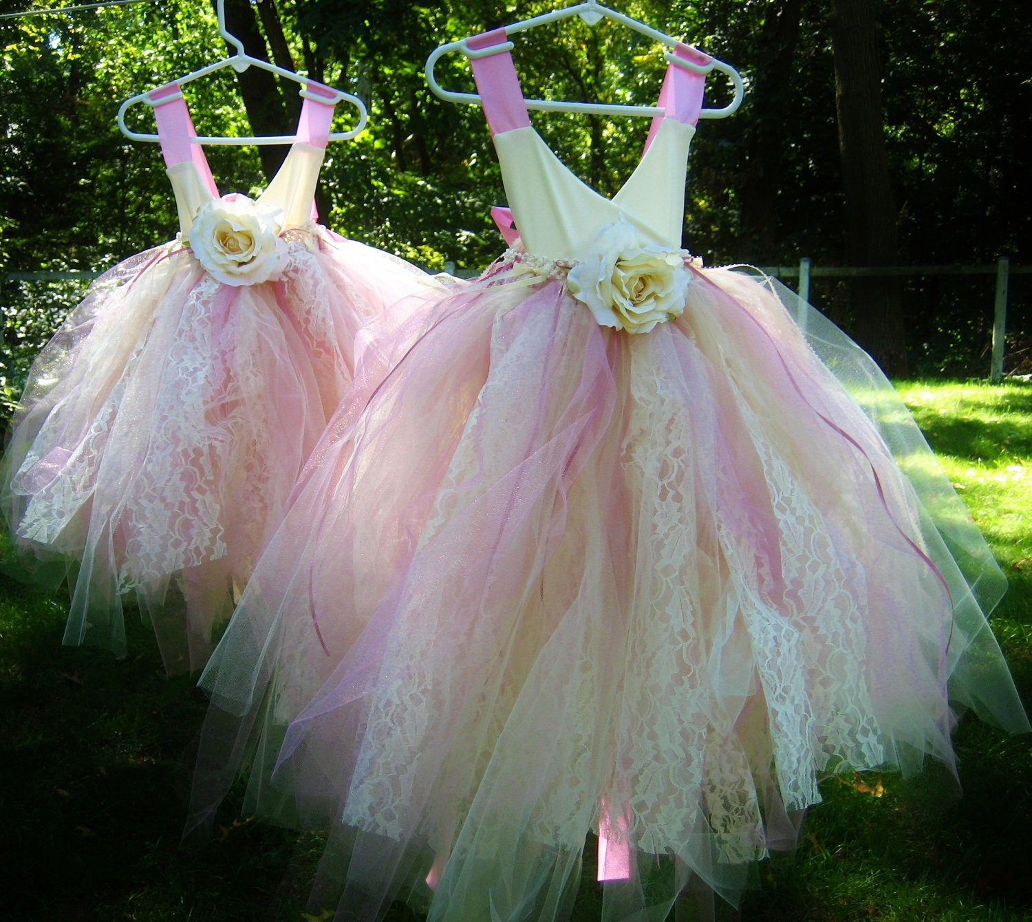 Tulle Flower Girl Dress Size 1T To 5T Pink By