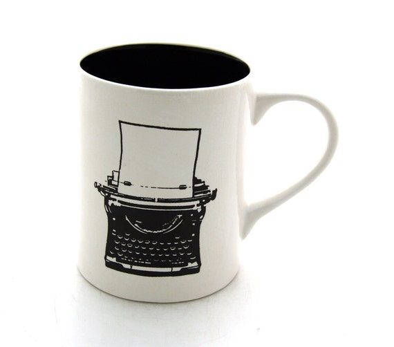 Vintage Typewriter Mug Can be personalized custom mug great teacher or back to school gift