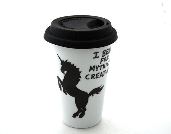 Unicorn Travel Mug Eco Friendly Gift For fantasy lover