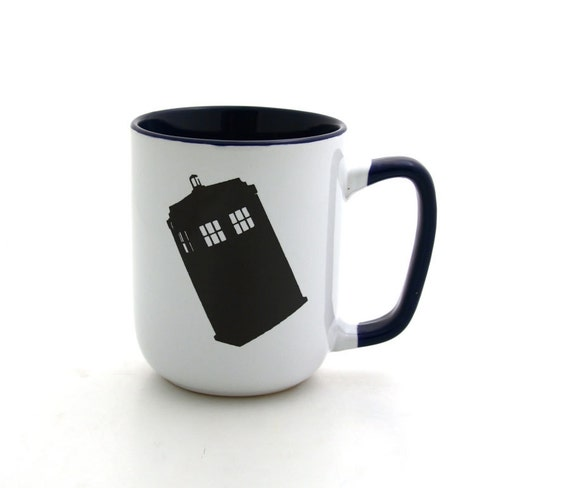 Dr Who Tardis Mug Stoneware