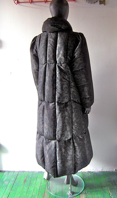 Bill Blass maxi coat feather down puffy full length warm