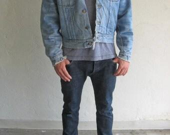 The Lee Distressed Corduroy Collar Denim Jacket