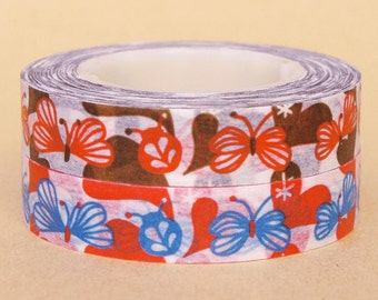 Funtape Masking Tape - Butterfly - Slim Set 2