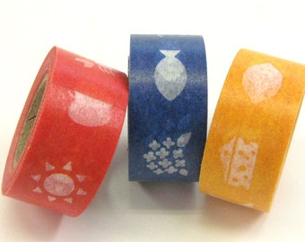 mt Washi Masking Tape - mt for kids - Animals, Food & Pictures - Set 3
