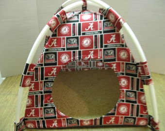 Large Handmade College Alabama Crimson Tide ( Bama ) Pup Tent Pet Bed for cats/ dogs/ferrets/ piggies/ A Toy Box / Barbie Doll House
