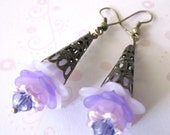 Flowers Earrings,Shades of Purple