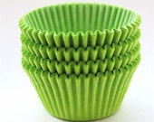 JUMBO Large SOlid Lime Green Cupcake Liners (25)