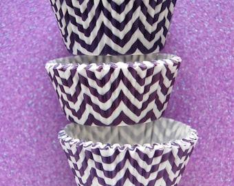 Purple Chevron ZigZag Cupcake Liners Standard Size 50 per pack
