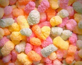 Colourful Candy / Sweets Food Photography -10x8 - rainbow, pastels, pink, yellow, orange, white, close up