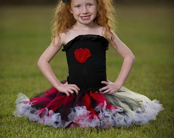 Queen of Heart Tutu skirt Set custom made you choose your colors