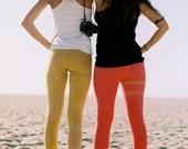 organic cotton leggings // yellow leggings // leggings are pants // organic yoga wear // spandex leggings // printed leggings // yoga pants