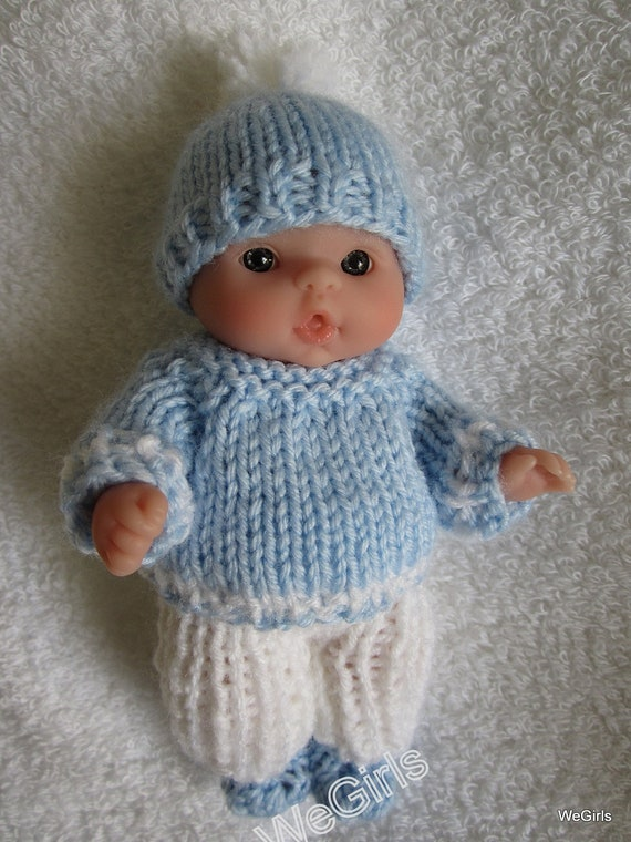 Knitting Patterns For 8 Berenguer Doll Clothes : Knit Doll Clothes Lots to Love Berenguer 5 inch Baby Doll