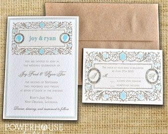 Vintage Cameo Wedding Invitation Save the Date