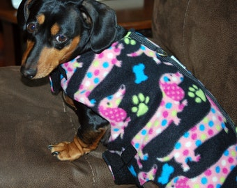 Spoted Dachshund Winter Walking Harnesses