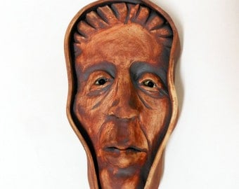 A Peasant Woman Ceramic Wall Mask