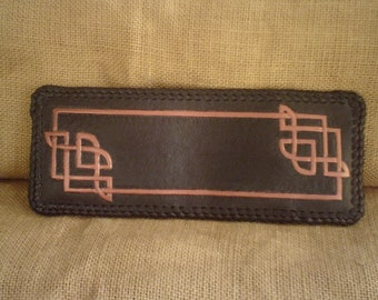 HANDMADE LEATHER CELTIC Wallet in Black and Copper