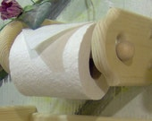 unfinished Toilet Paper tissue Holder wood