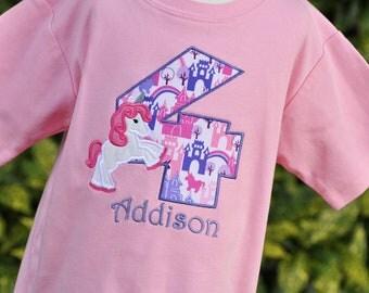 Personalized Unicorn Birthday Shirt - Girls Birthday Shirt - Girls Unicorn Shirt - Unicorn Party - First Birthday Shirt - Magical Unicorn