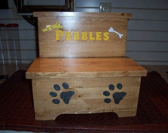 Handmade Custom Painted Pet Step Stool
