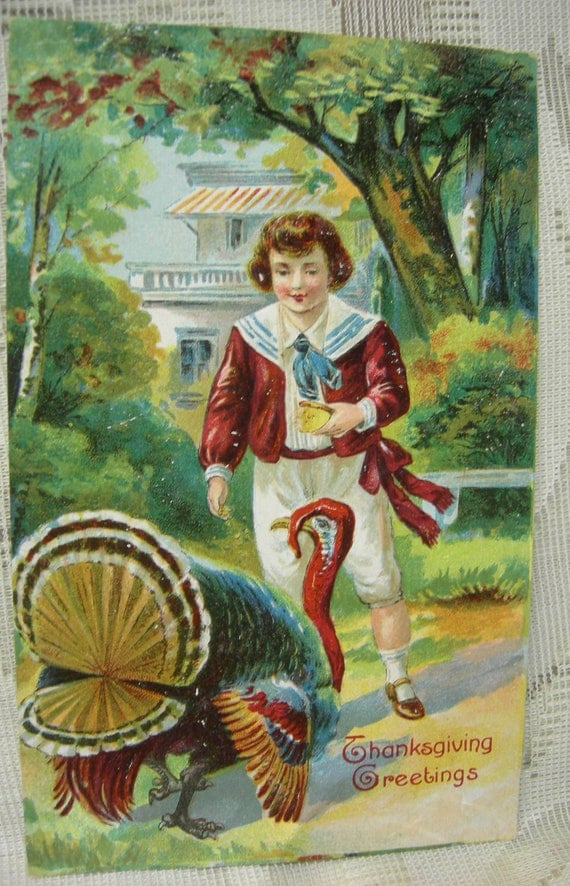 Antique Thanksgiving Postcard - 1908