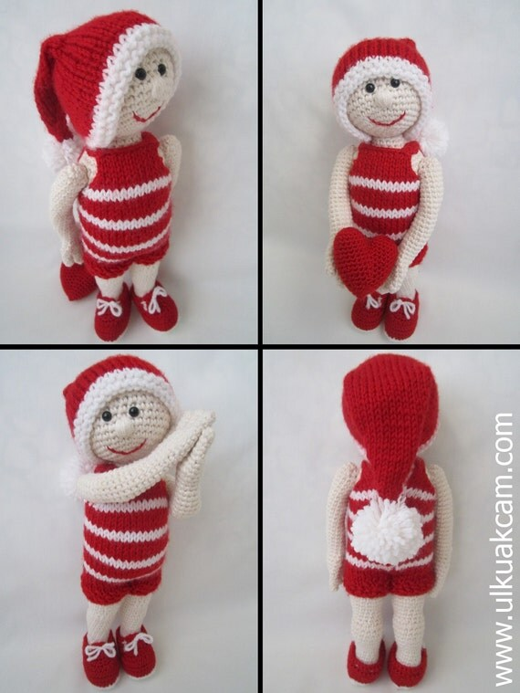 Amigurumi Christmas Doll Pattern from Denizmum on Etsy Studio