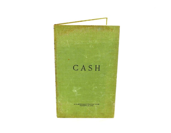 Keeping Track - Vintage Ledger - Vintage Cash Ledger - Vintage Military Ledger