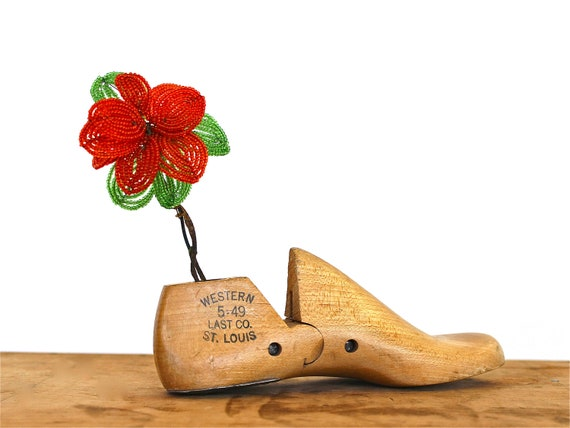 One Step at a Time - Vintage Shoe Form - Wooden Shoe Cobbler Form
