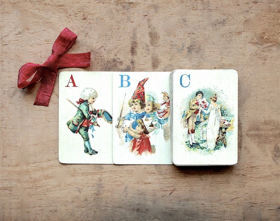 Reserved for Alexander - Victorian ABC's - Antique Logomachy or War of Words - Antique McLoughlin Bros Card Game