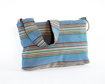 70s Disco Stripes Harness Shoulder Purse