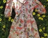 Vintage 1940's Inspired Handmade Frock Dress