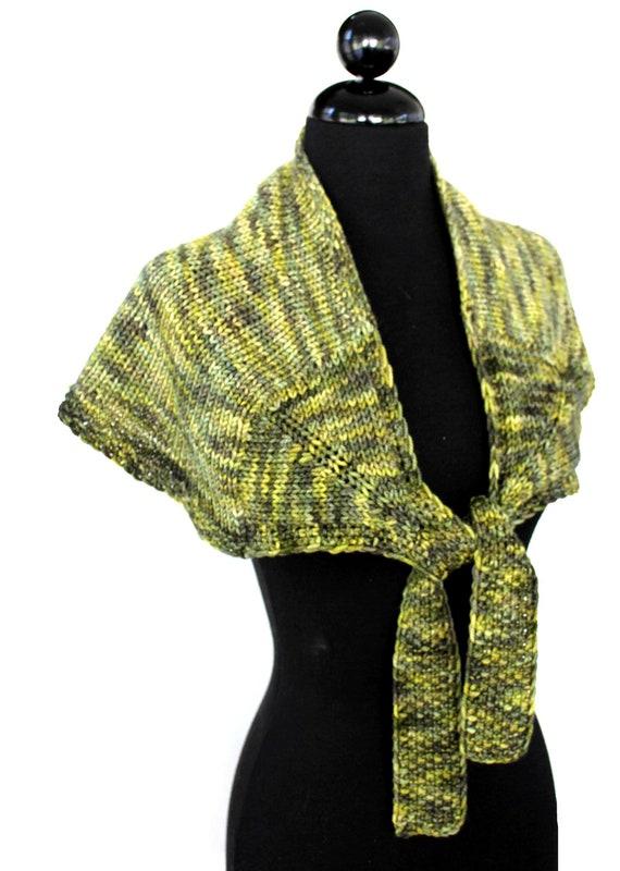PATTERN Shoulder Wrap Bulky Weight Yarn Easy Knitting
