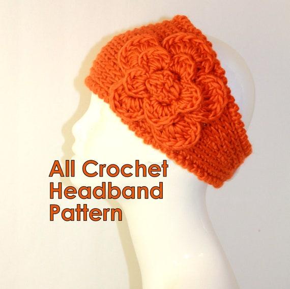 Crochet Ear Warmer Pattern Bulky Yarn : CROCHET PATTERN Fast Crochet Headband Kayla Bulky Weight