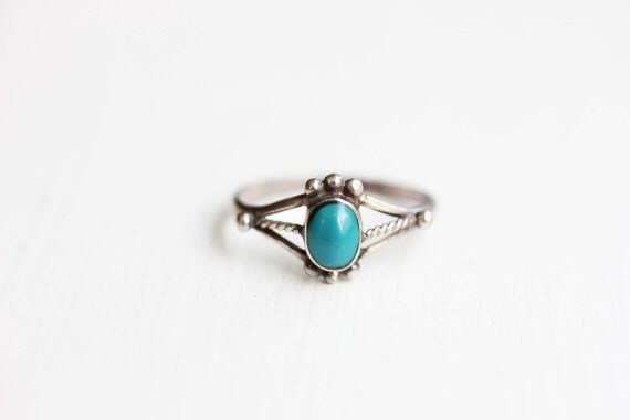 small sterling silver and turquoise ring by diamentdesigns