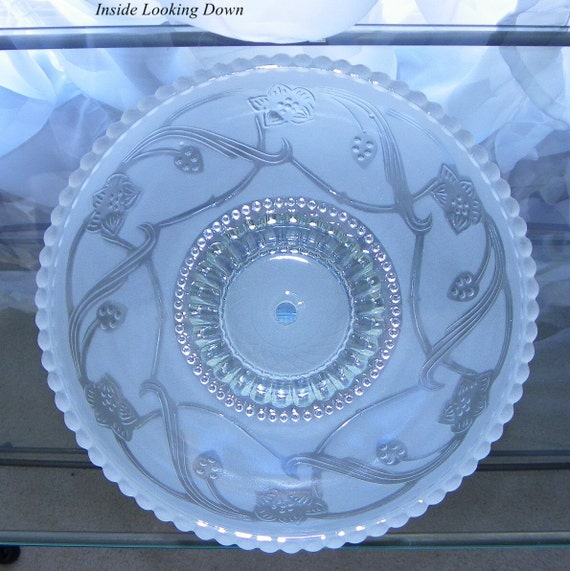 Ceiling Light Tile Covers : Vintage ceiling light cover frosted glass candlewich edge
