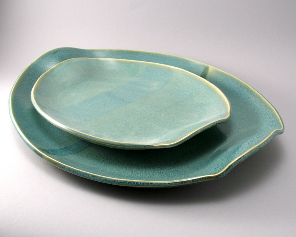 Stoneware Oval Serving Platters Pottery