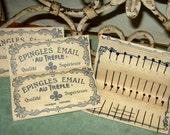 Antique Glass Head Veil Pins