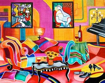 Print Picasso, Picasso, Pablo Picasso, Fine Art Print, Still Life Print, Original Art, Romancing Picasso