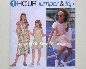 Girls Jumper and Top - Simplicity 9530 - a Sewing Pattern, Sz 12 and 14