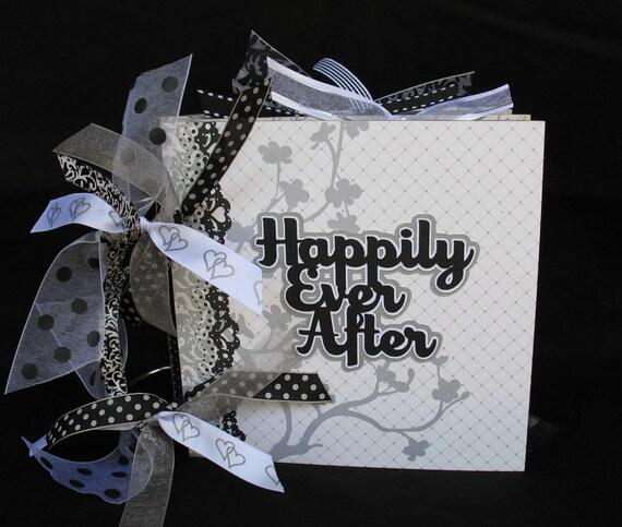 Wedding Photo Scrapbook Album Chipboard 6x6 Bridal Shower Gift Bride Groom Keepsake READY TO SHIP
