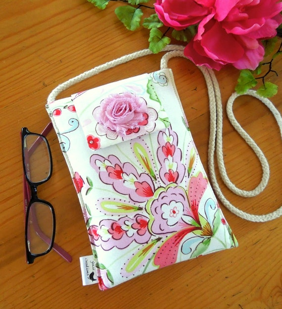 Neck or Shoulder Purse in a Sweet Flowery Design