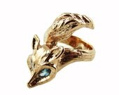 Enchanted Fox Ring in Rose Gold