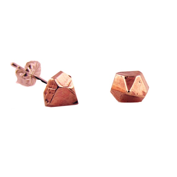 Crystal Studs in Rose Gold