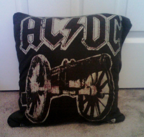 Reserved for Carla - ACDC Throw Pillow Cover DIY Rock Metal Band
