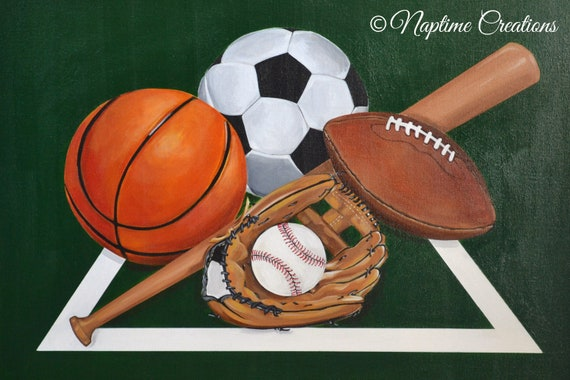 Original Custom Personalized Painted Sports Canvas Soccer